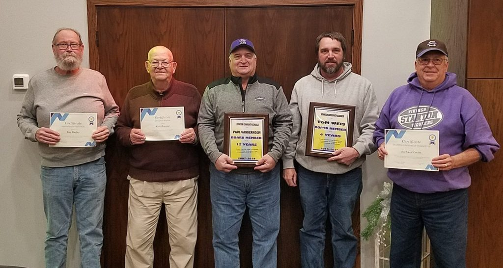 "A special thanks to these ""5 Guys"" for their years of service to our community!"