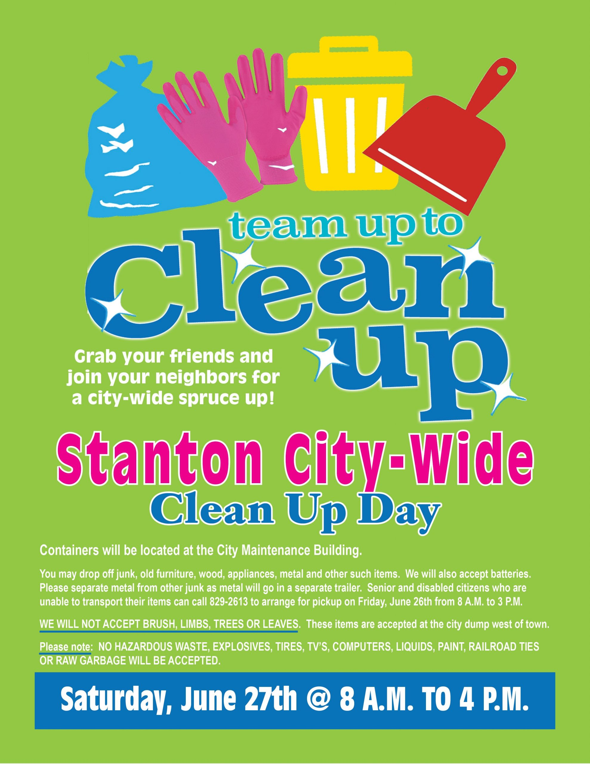 Stanton City-Wide Clean Up Day