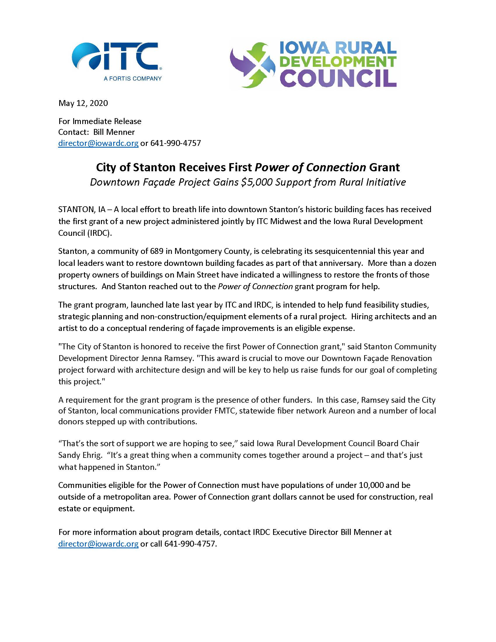 City of Stanton Receives First Power of Connection Grant