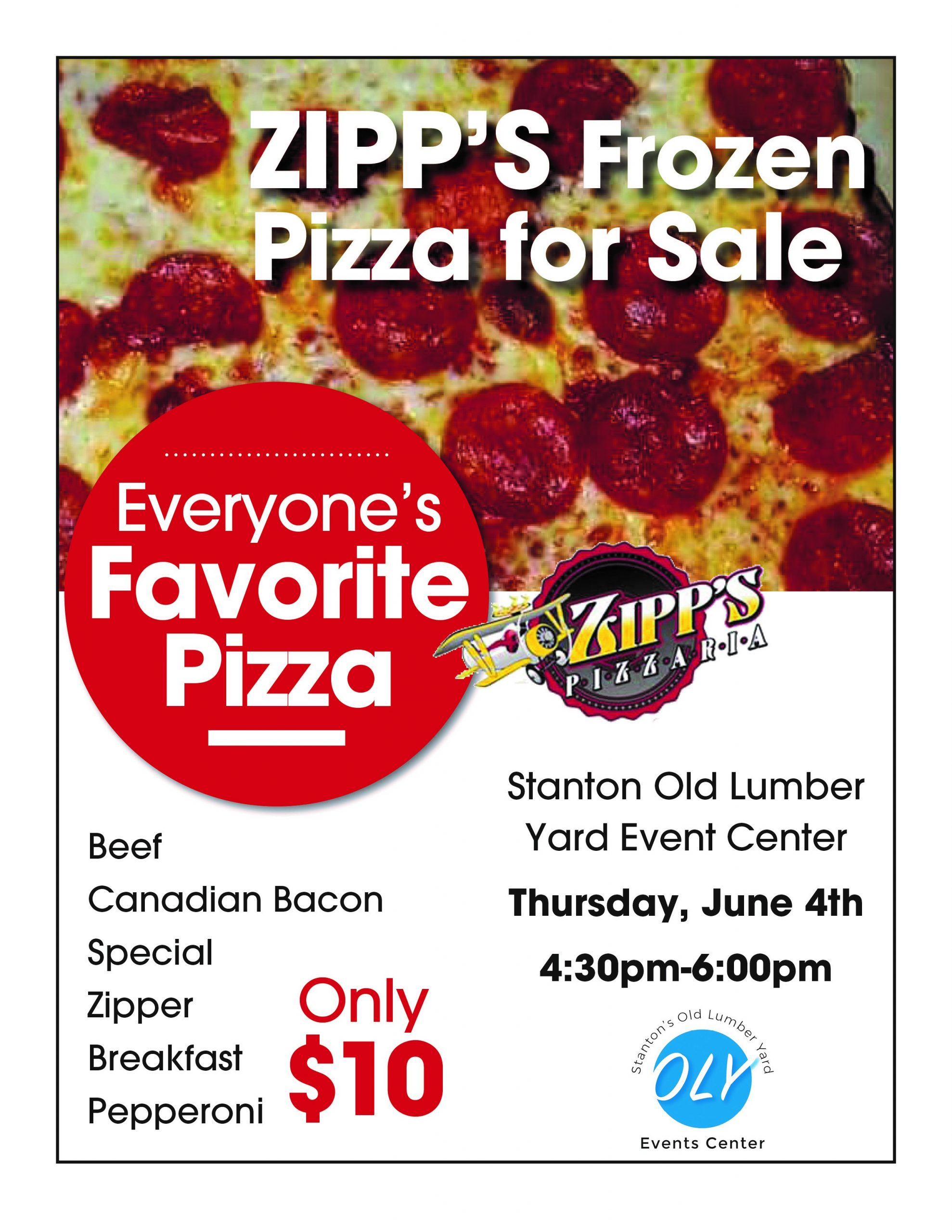 Zipp's Pizza for Sale at Stanton Old Lumber Yard Event Center