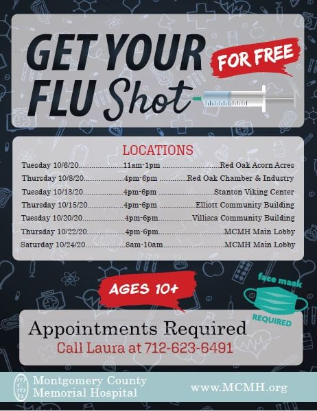Free Flu Shots Provided By Montgomery County Memorial Hospital