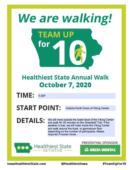 Join us for the Healthiest State Annual Walk!